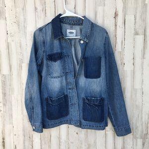 Old navy denim jacket with contrast pockets